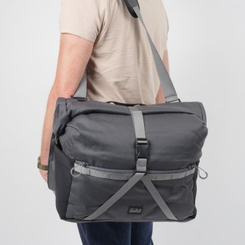 Brompton Borough Roll Top Bag Large, Dark Grey